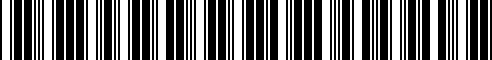 Barcode for 71707723516