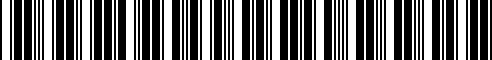 Barcode for 77258405004