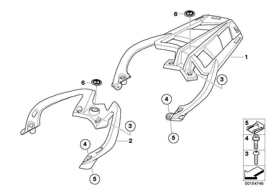 Diagram Handle with luggage support for your 2009 BMW R1200R