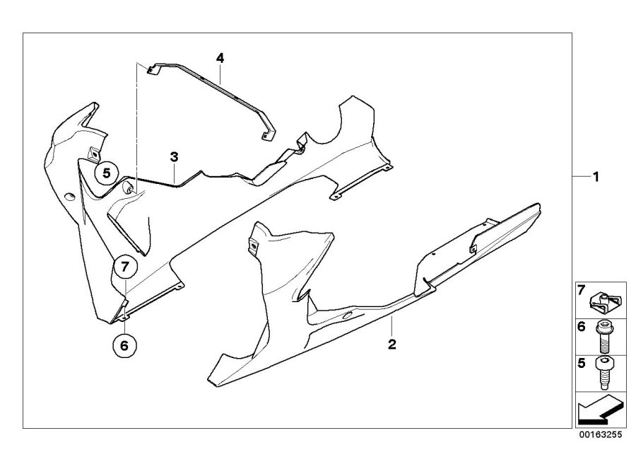 Diagram Engine spoiler for your 2009 BMW R1200R