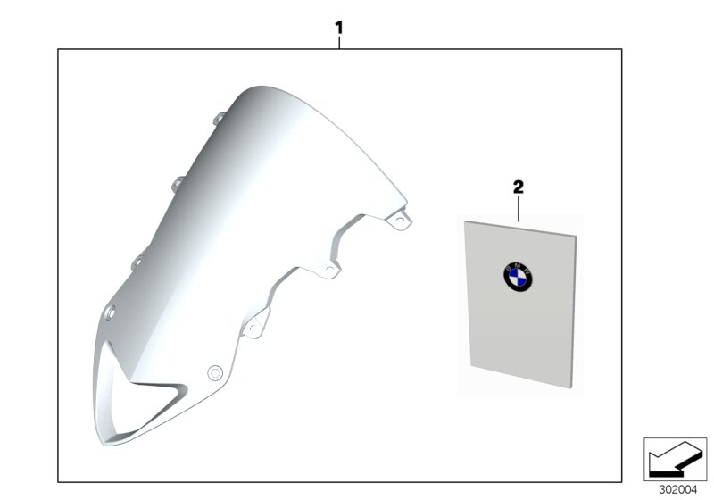 Diagram Windshield, high for your BMW S1000RR